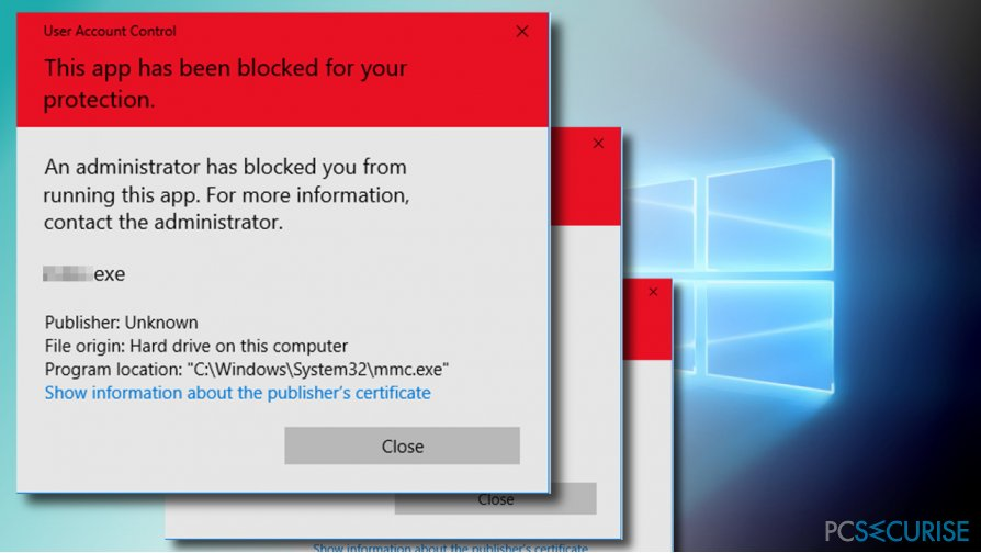 How to fix «An administrator has blocked you from running this app» error on Windows 10?
