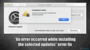 Erreur MacOs Big Sur «Une erreur s'est produite lors de l'installation des mises à jour sélectionnées» - comment la corriger ?