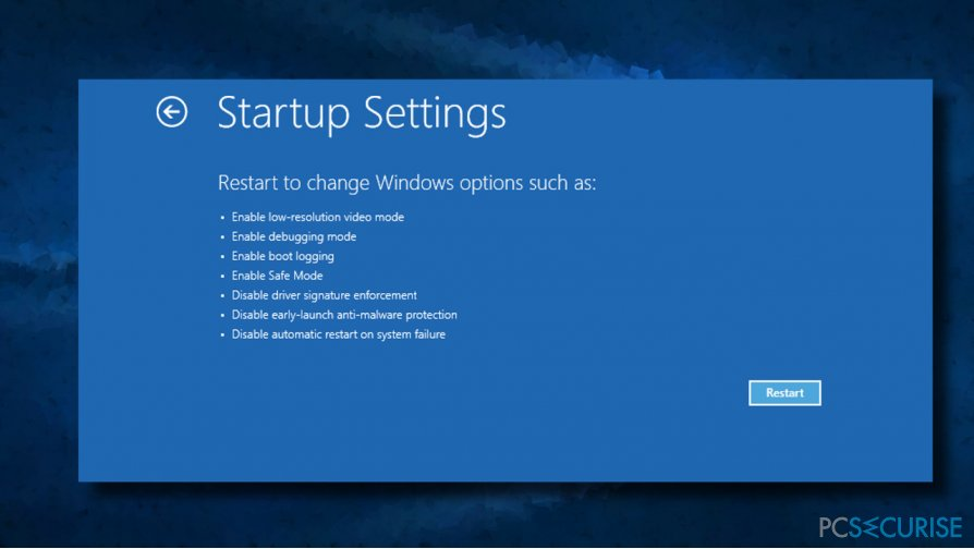 Boot the system into Safe Mode with Networking