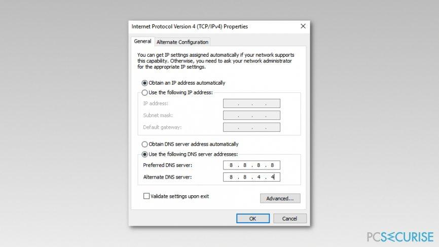 Change TCP/IP4 Proxy Settings on Windows