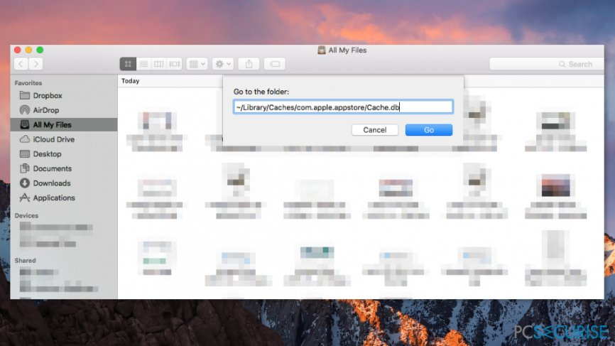Delete cache associated with Mac App Store