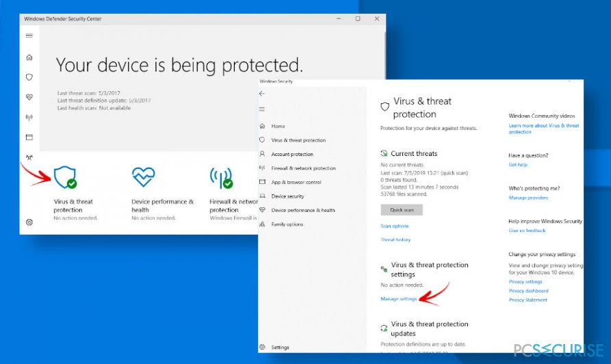 Fix Windows Defender false possitives