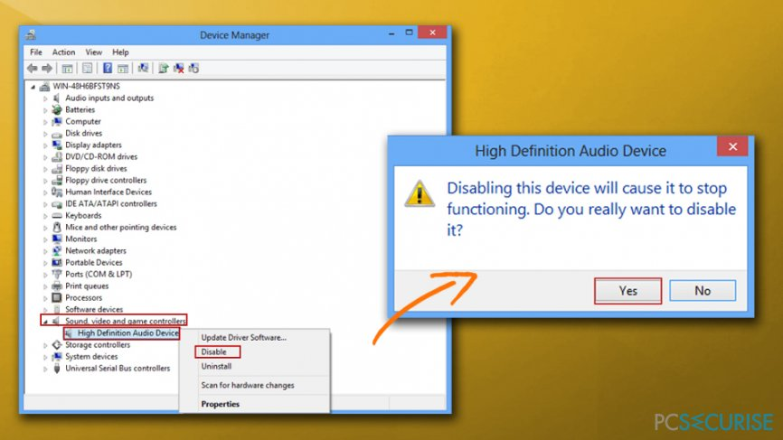 DXGI_ERROR_DEVICE_HUNG error - disable sound card