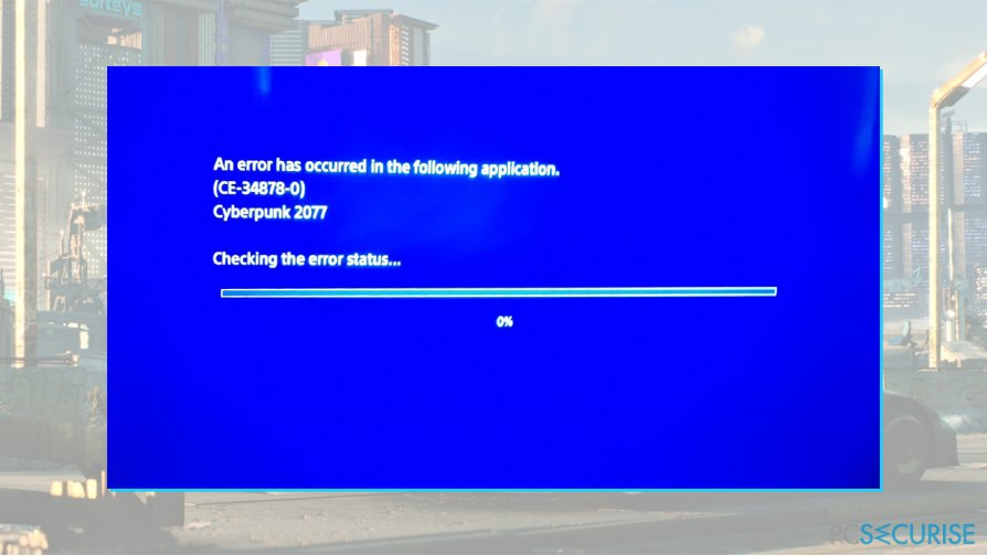 CE-34878-0 error fix on PlayStation 4