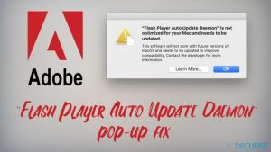"Comment réparer le Pop-up Mac ""Mise à jour Automatique Flash Player de Daemon"" ?"