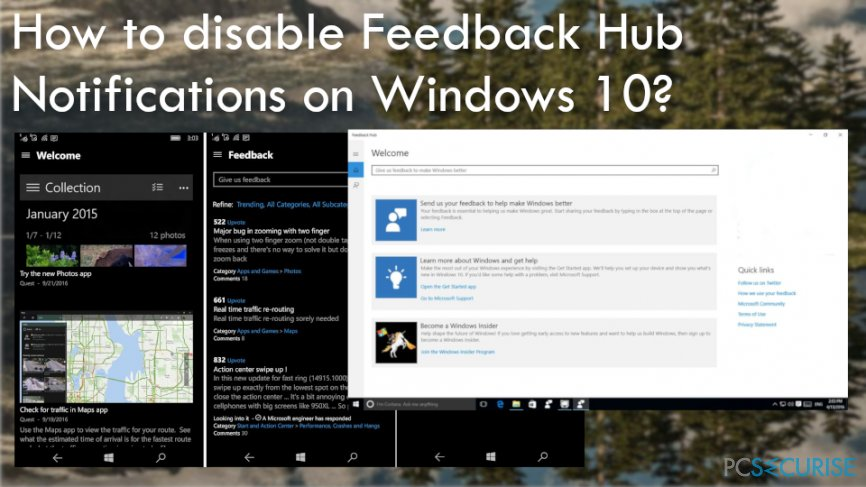 Disable Feedback Hub Notifications on Windows 10