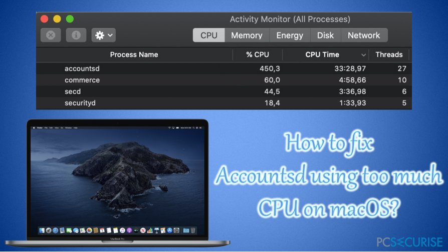 How to fix Accountsd using too much CPU on macOS?