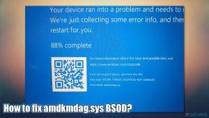 Comment corriger l'erreur amdkmdag.sys sur Windows 10 ?