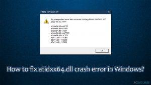 Comment réparer l'erreur atidxx64.dll sur Windows ?