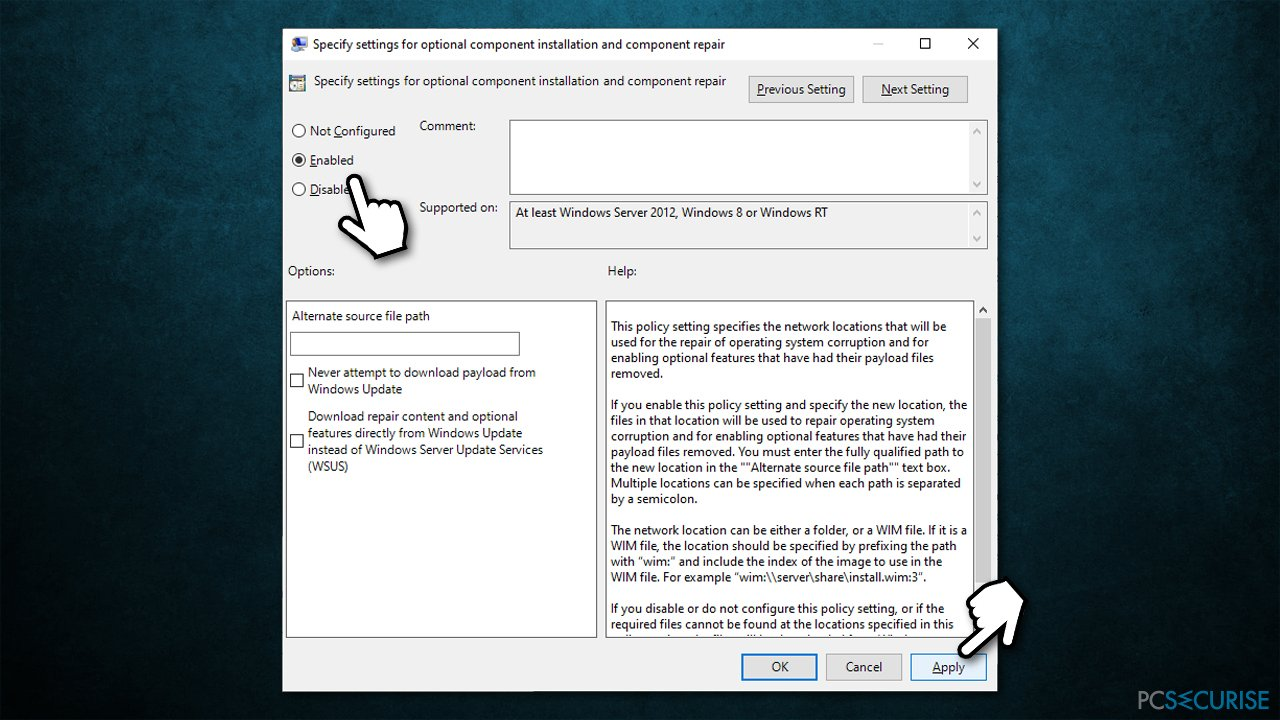 Edit Group policy 2