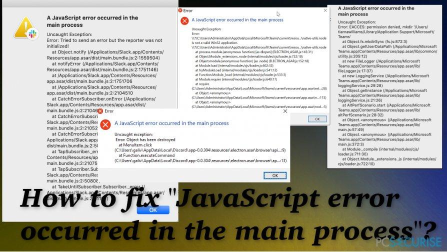 "Fix for ""JavaScript error occurred in the main process"""