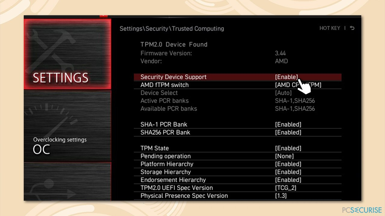 How to fix new CPU installed, fTPM/PSP NV corrupted or fTPM/PSP NV structure changed?