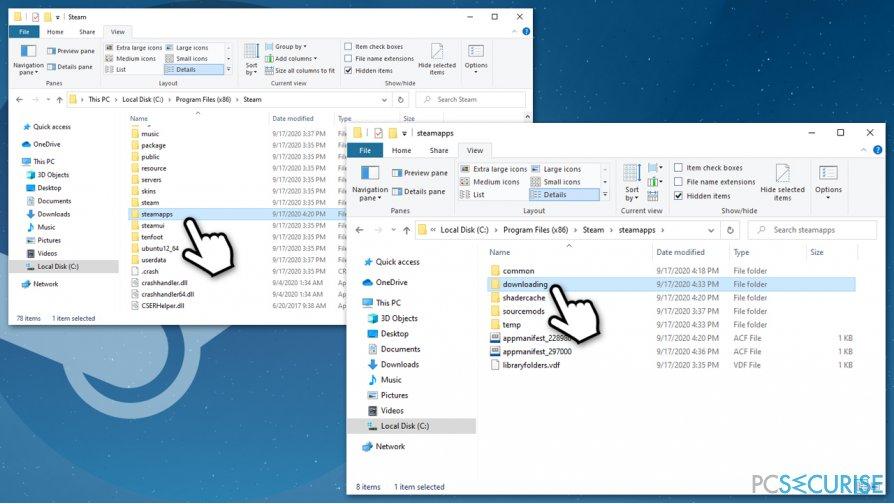Delete problematic file