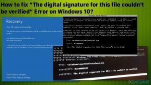 Comment corriger l'erreur «La signature numérique de ce fichier n'a pas pu être vérifiée» sur Windows 10 ?