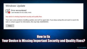 Comment corriger l'erreur Votre appareil manque de correctifs de sécurité et de qualité importants ?