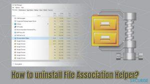 Comment désinstaller File Association Helper sur le système d'exploitation Windows?