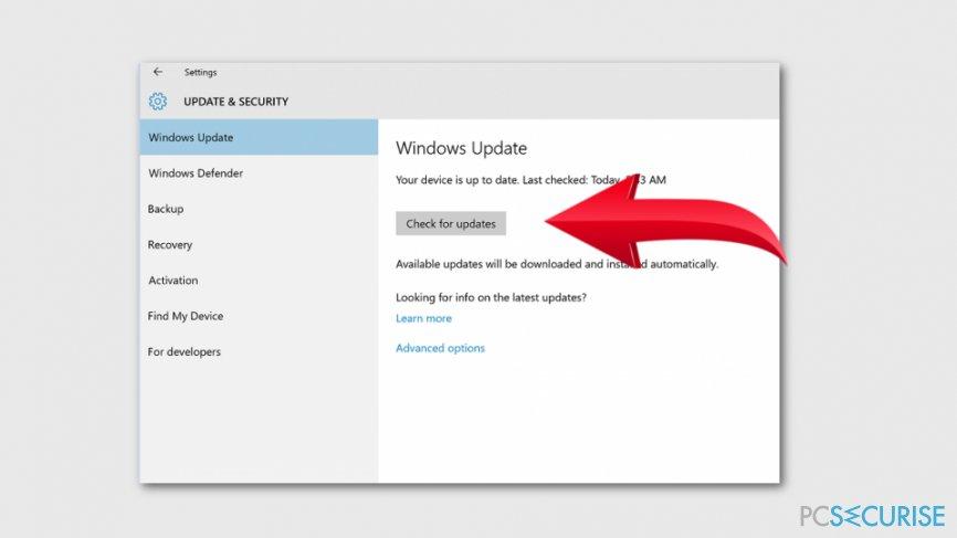 Install Windows Updates