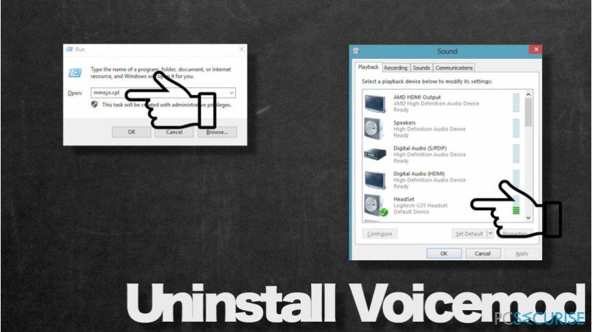Voicemod  sound settings
