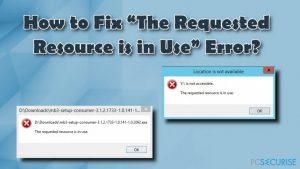 """Comment Corriger l'Erreur """"La Ressource Demandée est en Cours d'Utilisation"""" ?"""