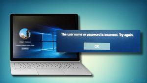 Comment corriger l'erreur «Le nom d'utilisateur ou le mot de passe est incorrect» ?