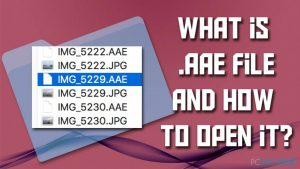 Qu'est-ce qu'un fichier .AAE et faut-il le supprimer ?