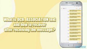 Que représente le texte DCB_ASSOCIATION et comment y remédier après avoir reçu ce message ?